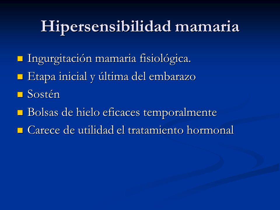 Hipersensibilidad mamaria
