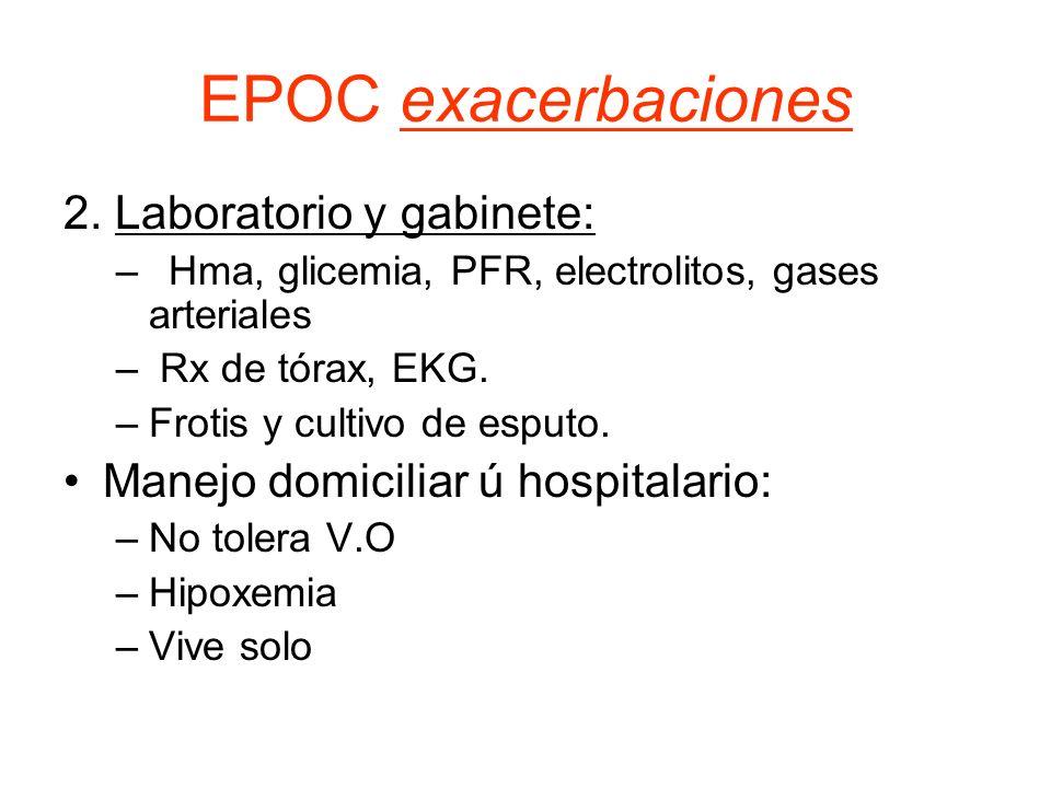 EPOC exacerbaciones 2. Laboratorio y gabinete: