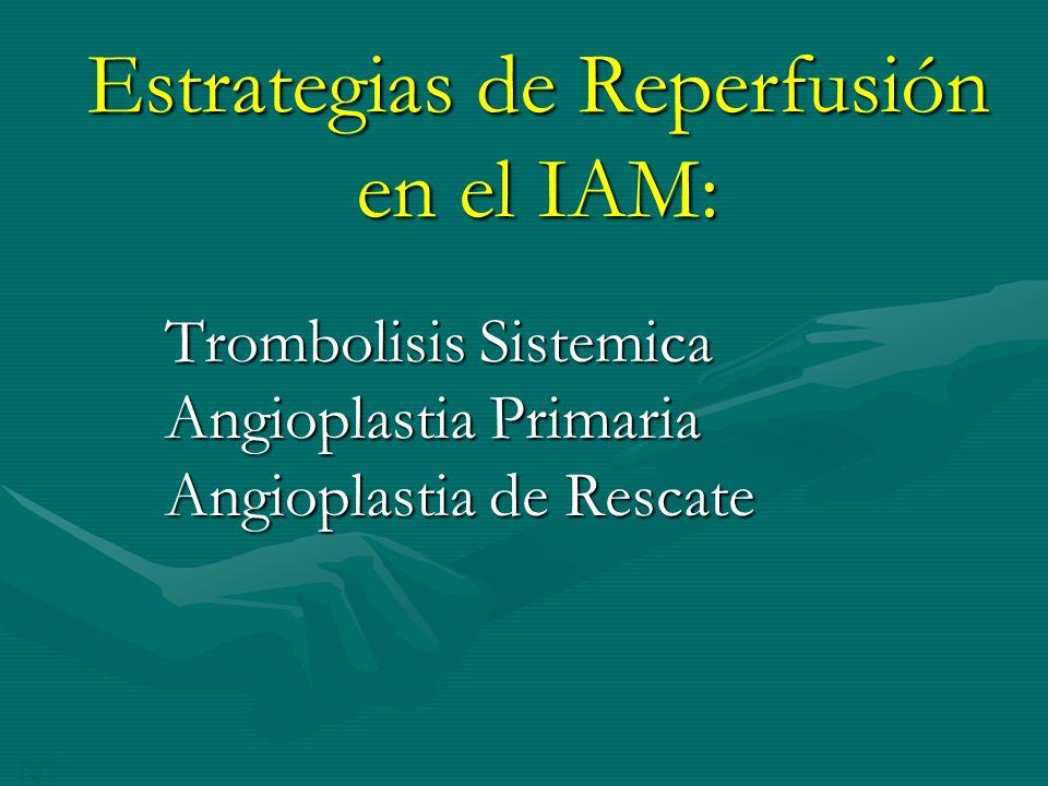 Estrategias de Reperfusión en el IAM: