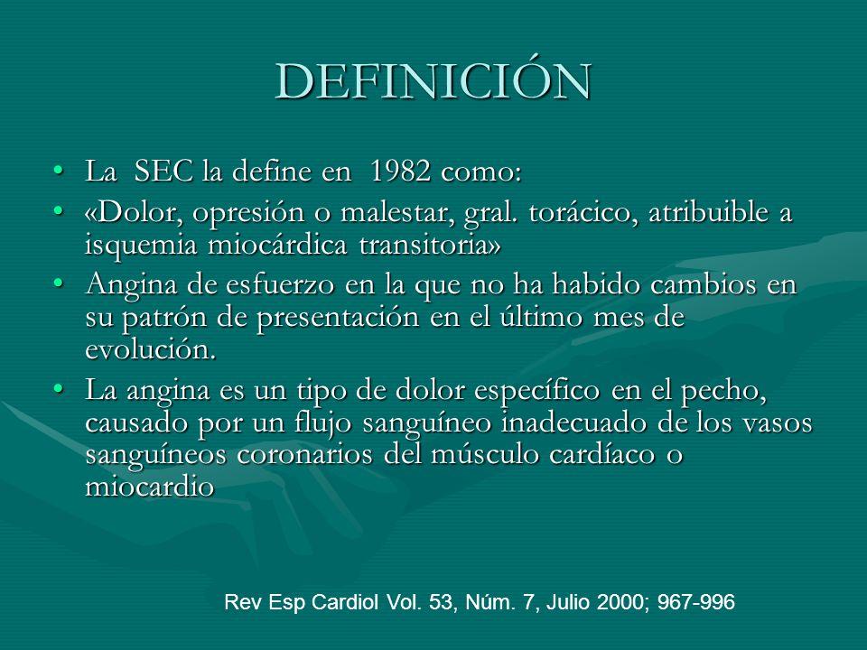 DEFINICIÓN La SEC la define en 1982 como: