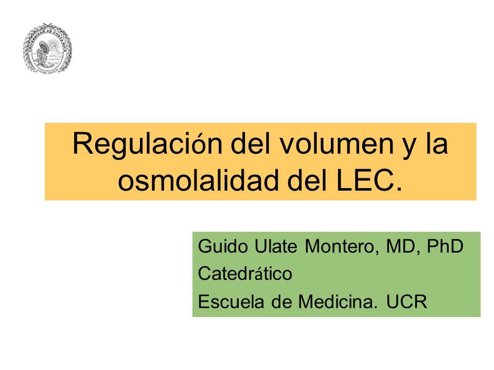 Regulación del volumen y la osmolalidad del LEC.