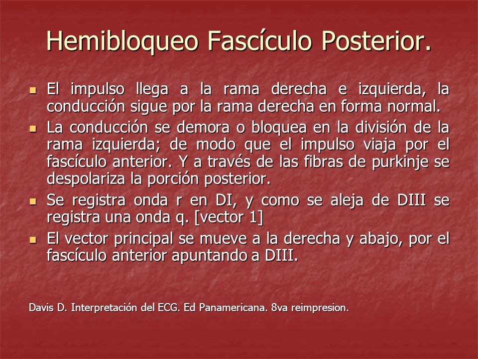 Hemibloqueo Fascículo Posterior.