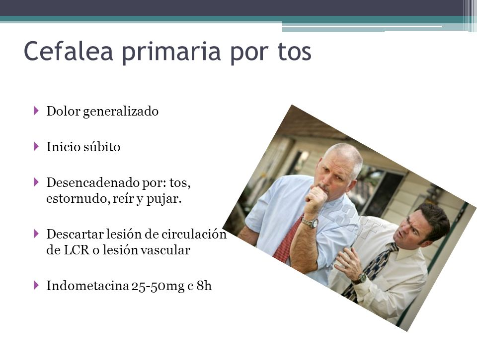 Cefalea primaria por tos