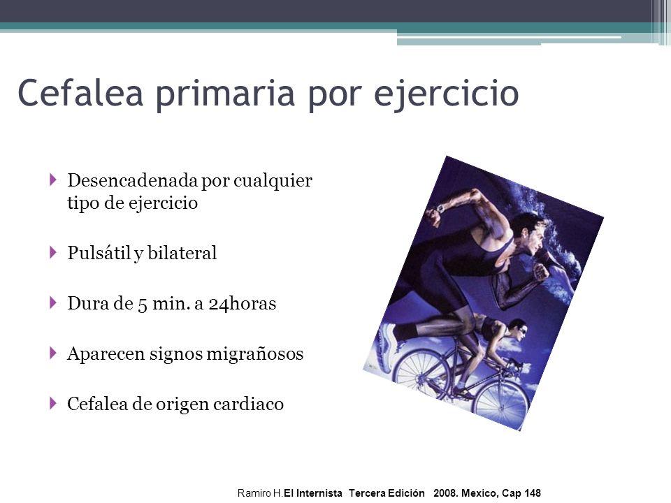 Cefalea primaria por ejercicio