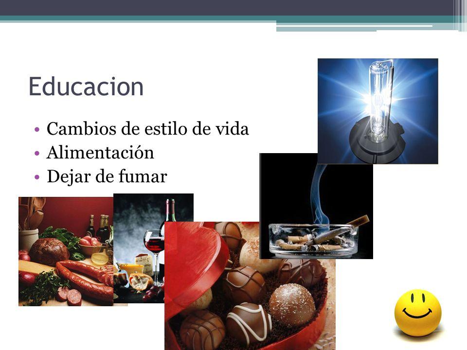 Educacion Cambios de estilo de vida Alimentación Dejar de fumar
