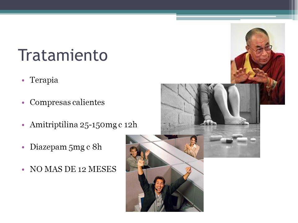 Tratamiento Terapia Compresas calientes Amitriptilina 25-150mg c 12h