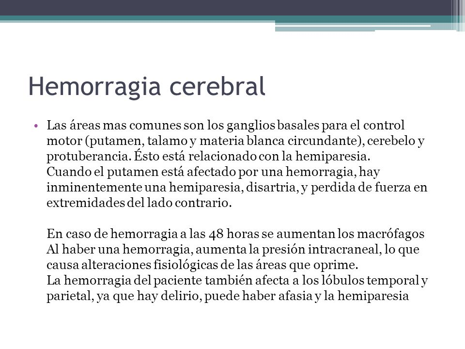 Hemorragia cerebral