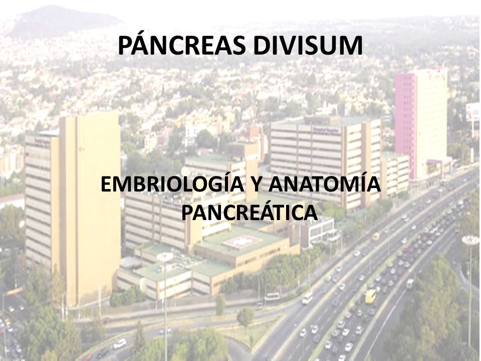 EMBRIOLOGÍA Y ANATOMÍA PANCREÁTICA