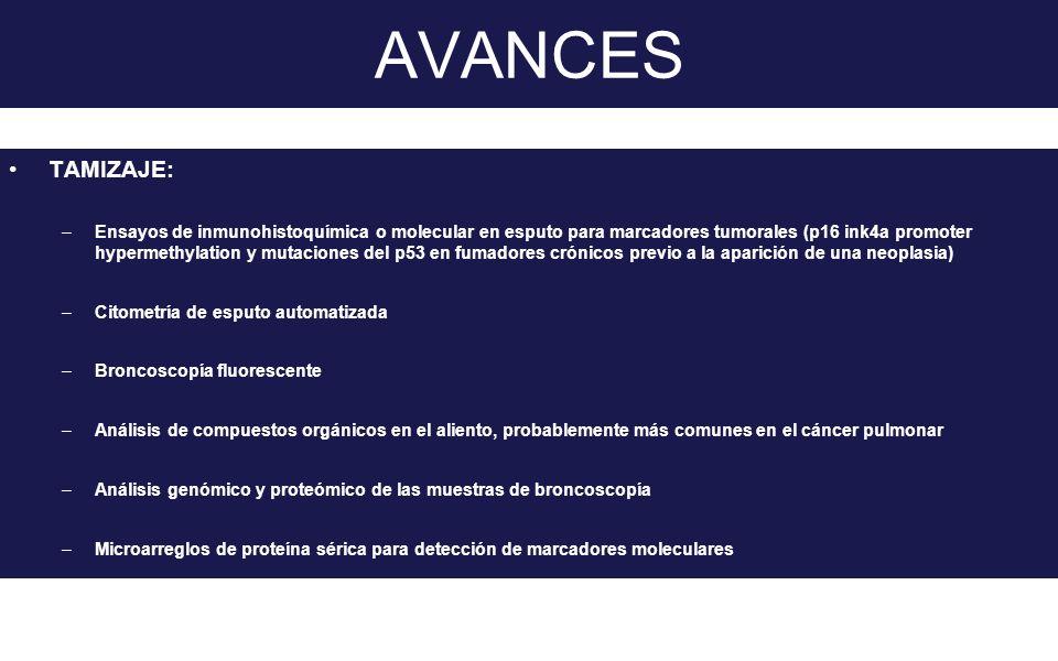 AVANCES TAMIZAJE: