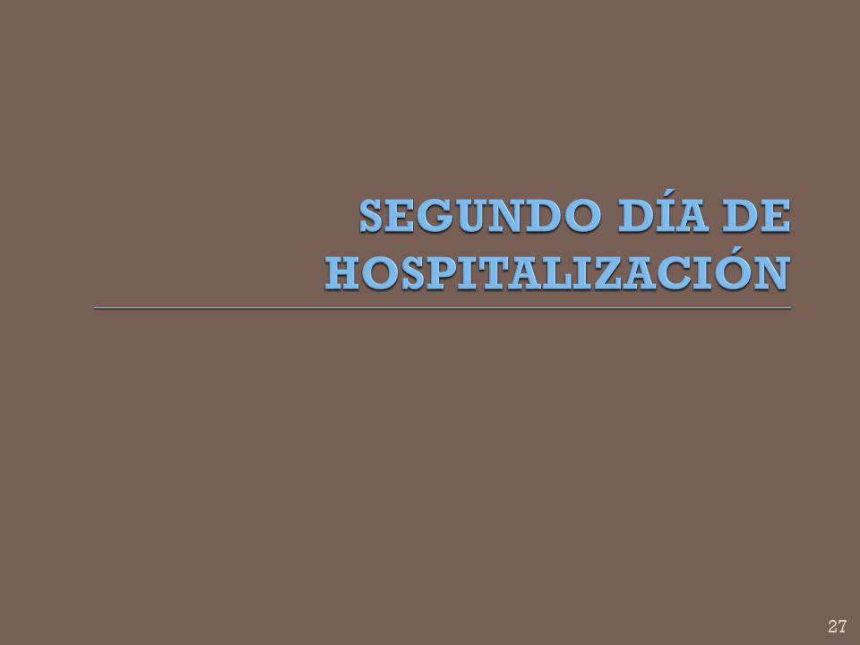 SEGUNDO DÍA DE HOSPITALIZACIÓN