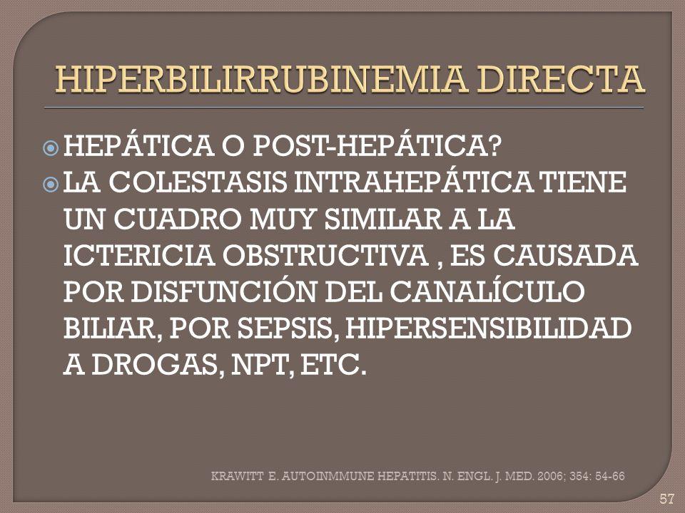 HIPERBILIRRUBINEMIA DIRECTA