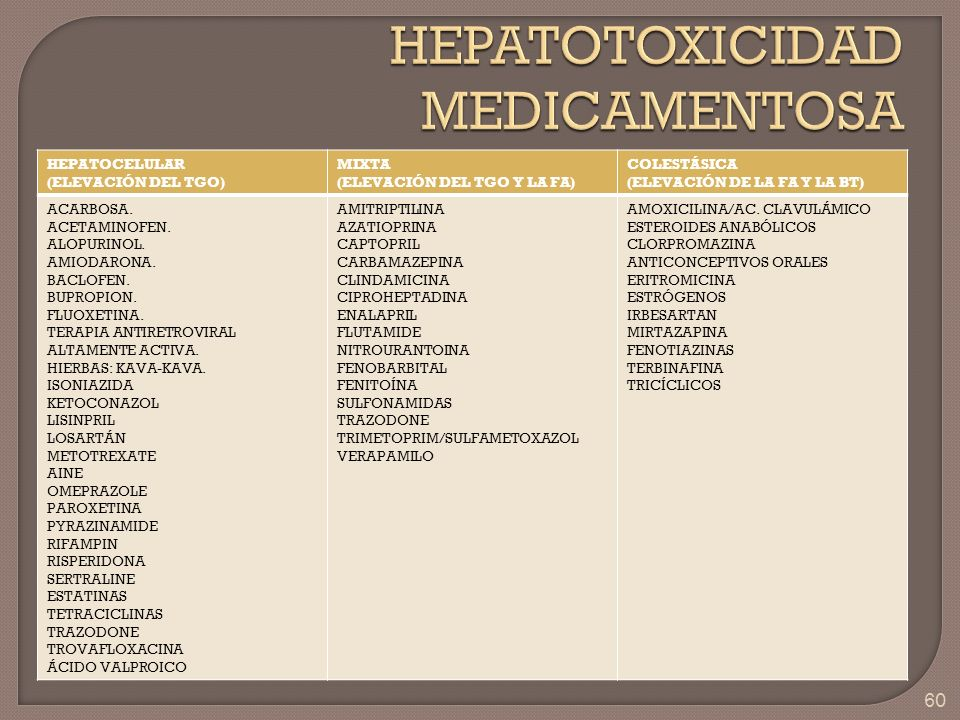 HEPATOTOXICIDAD MEDICAMENTOSA