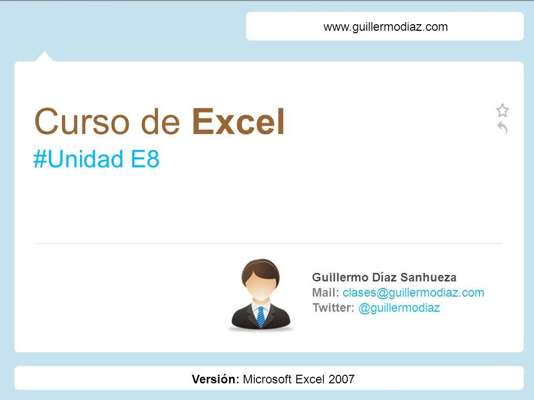 Curso de Excel #Unidad E8