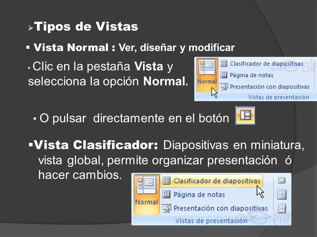 Vista Clasificador: Diapositivas en miniatura,