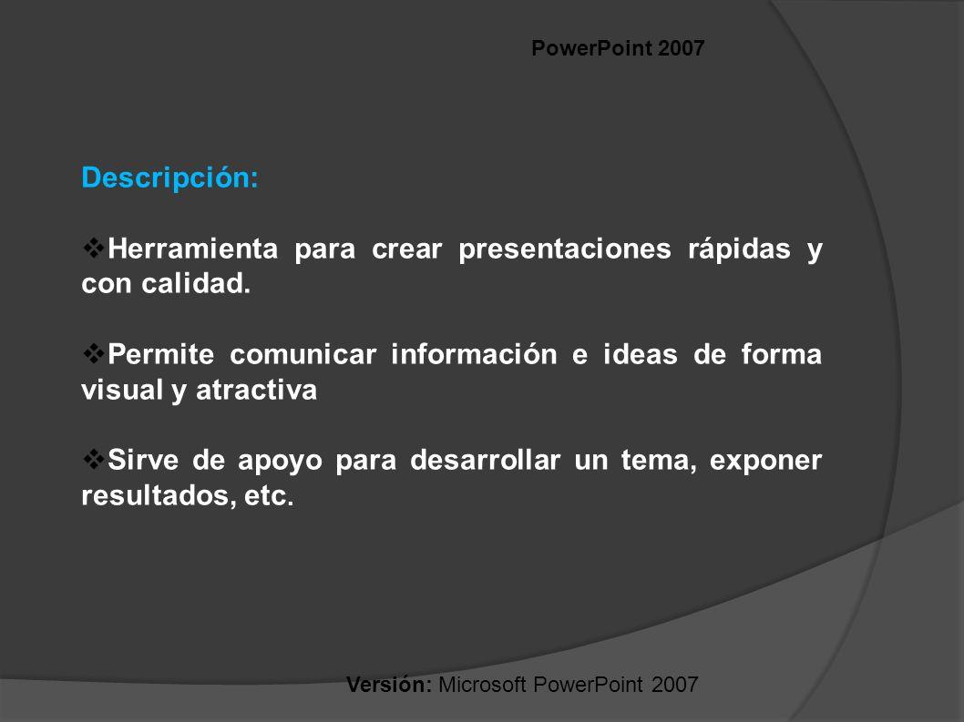 Herramienta para crear presentaciones rápidas y con calidad.