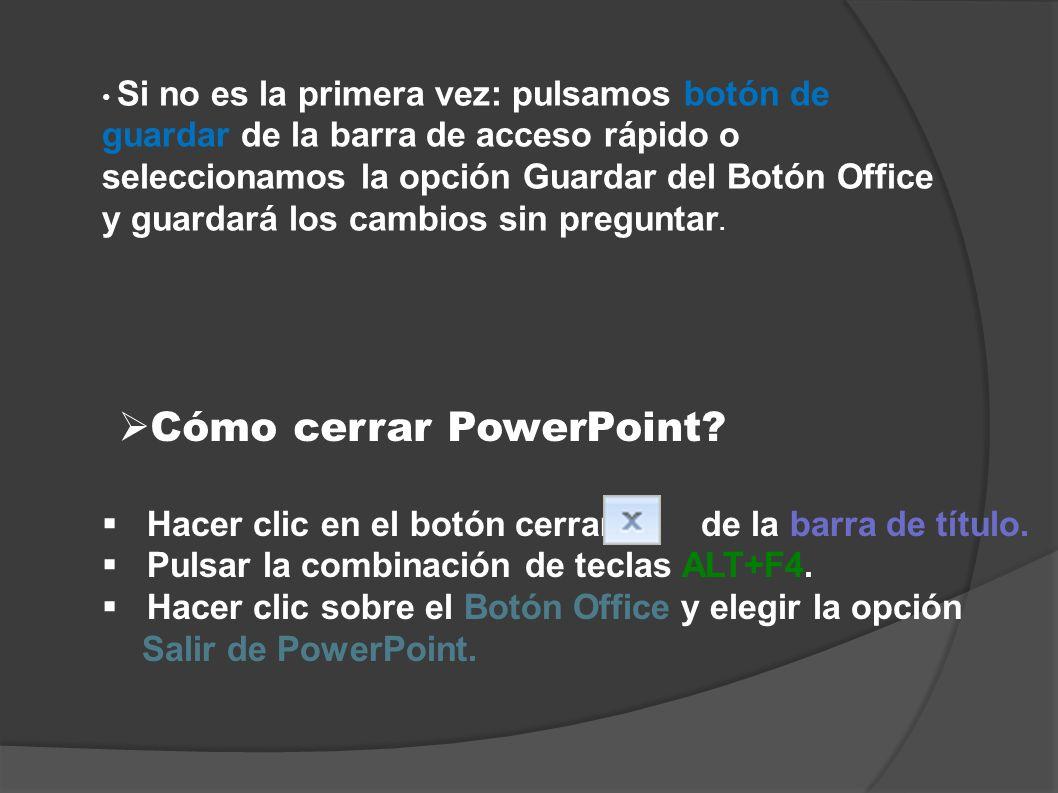 Cómo cerrar PowerPoint