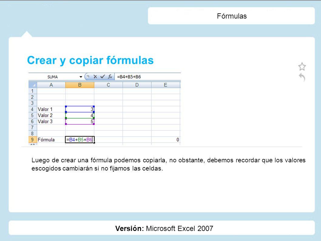 Crear y copiar fórmulas