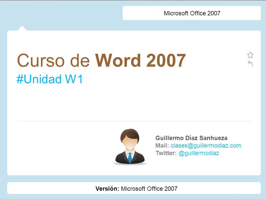 Curso de Word 2007 #Unidad W1 Microsoft Office 2007