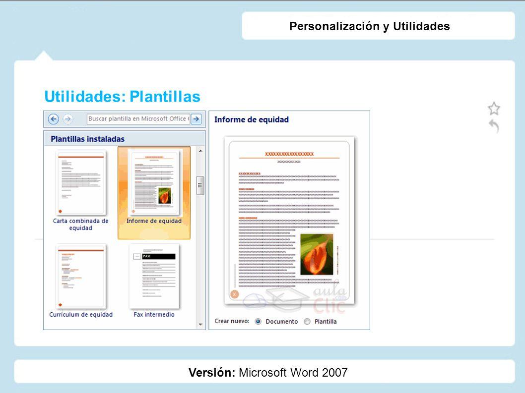 Utilidades: Plantillas