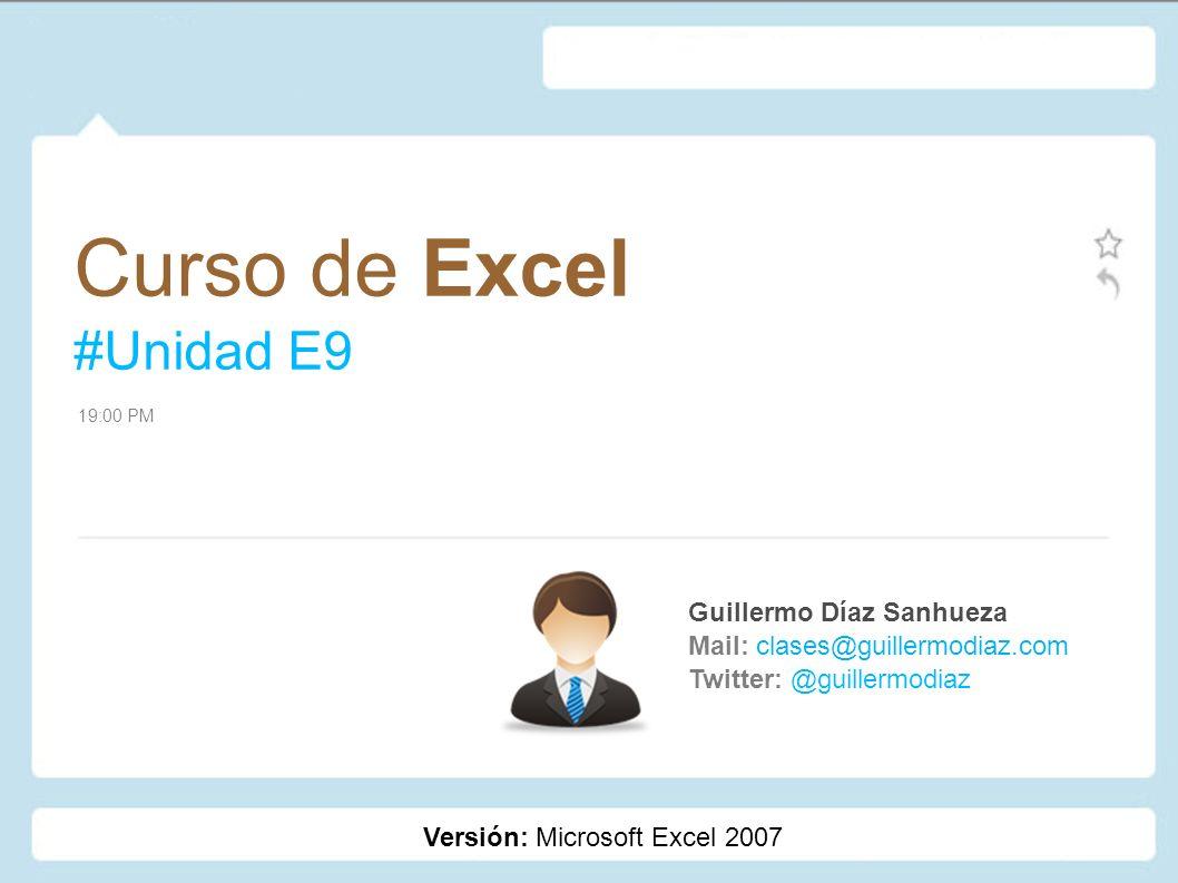 Curso de Excel #Unidad E9