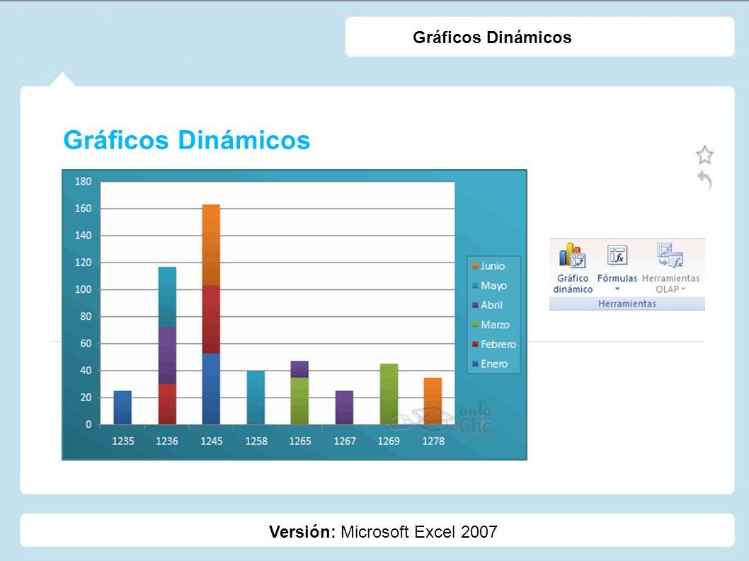 Gráficos Dinámicos Gráficos Dinámicos Versión: Microsoft Excel 2007