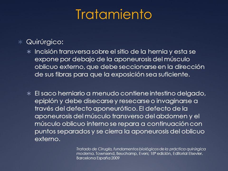 Tratamiento Quirúrgico:
