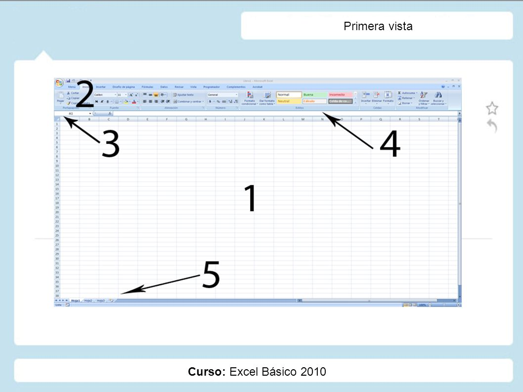 Primera vista Curso: Excel Básico 2010