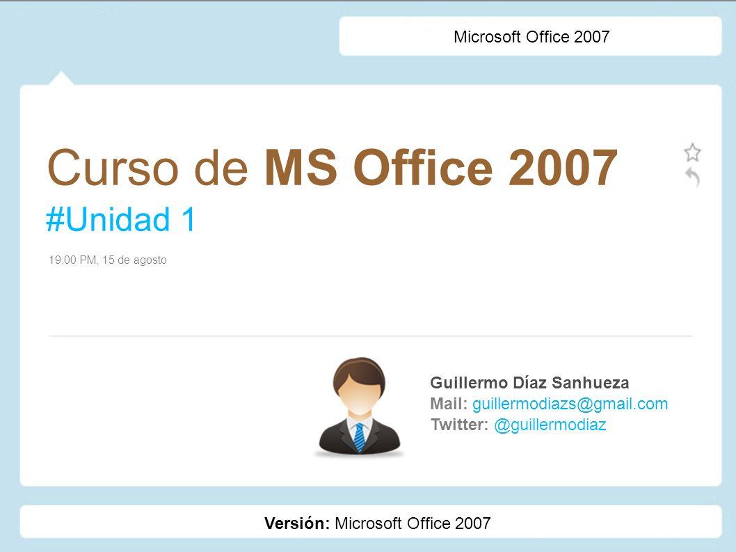 Curso de MS Office 2007 #Unidad 1