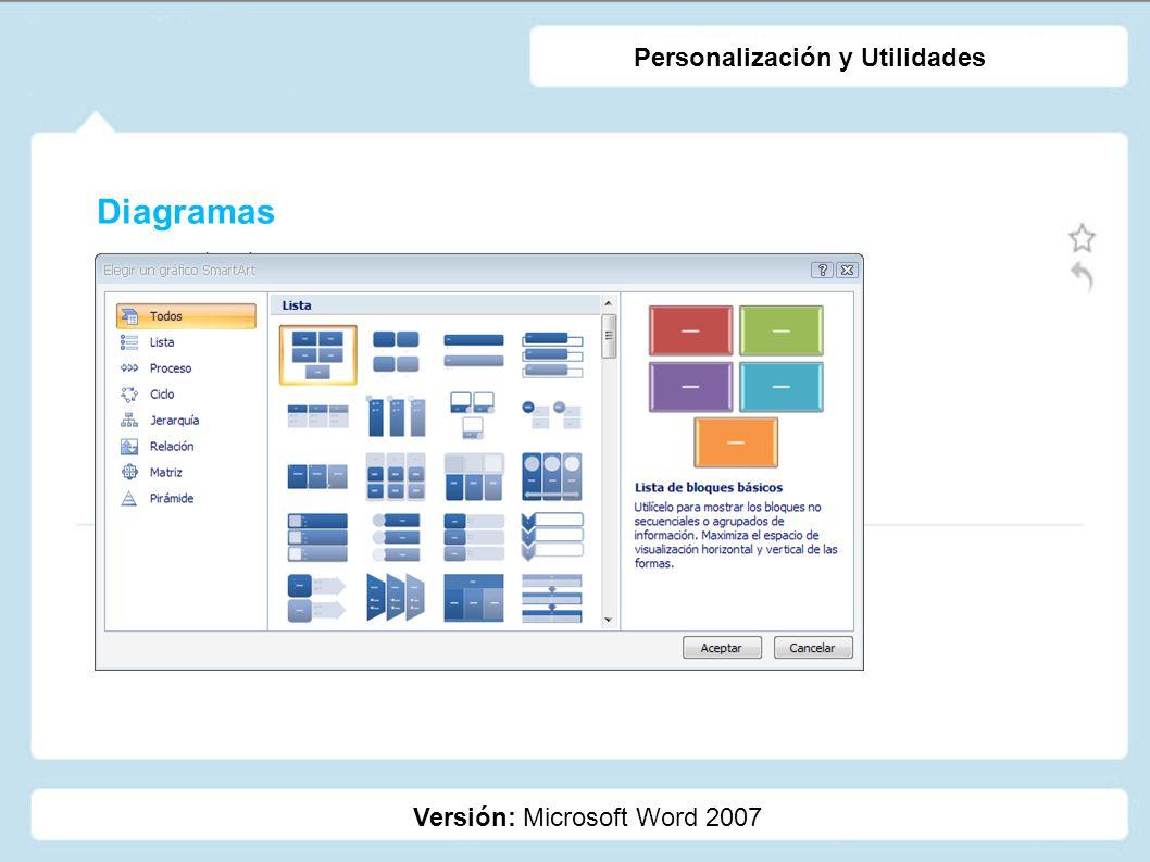 Personalización y Utilidades
