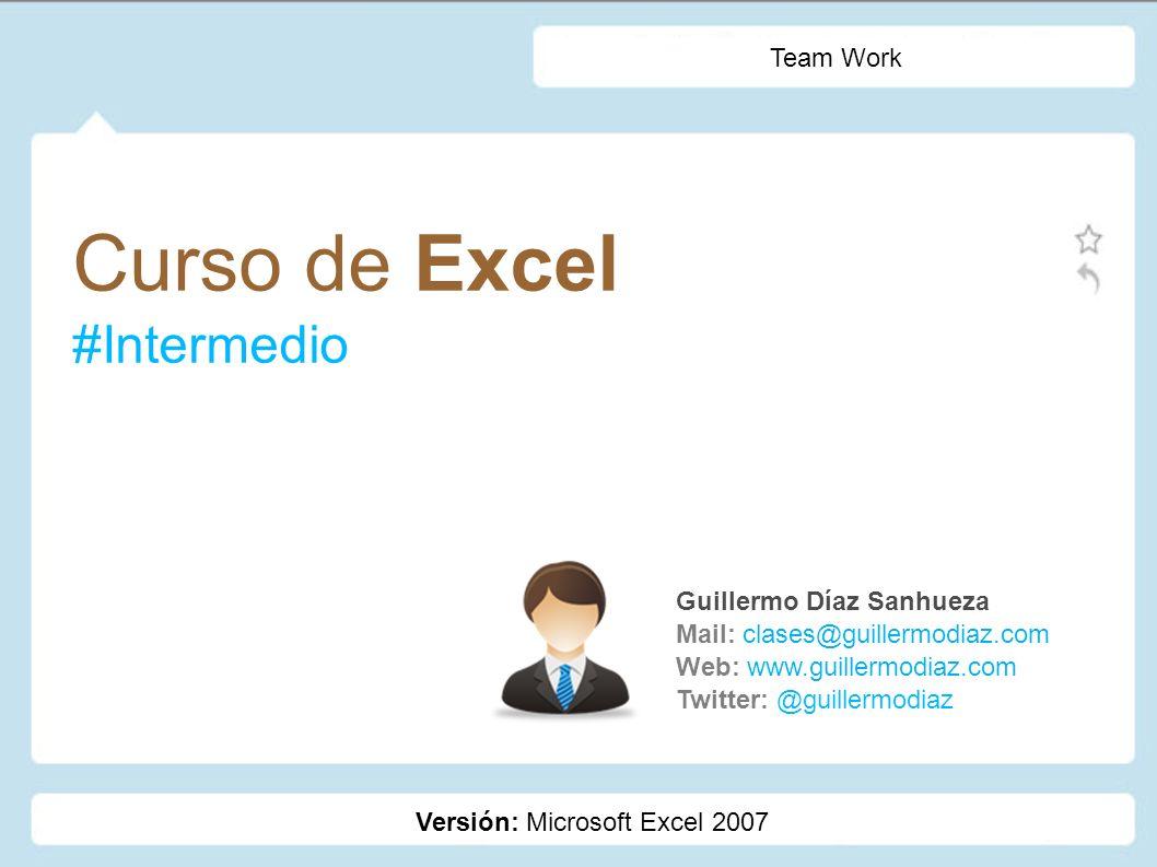 Curso de Excel #Intermedio