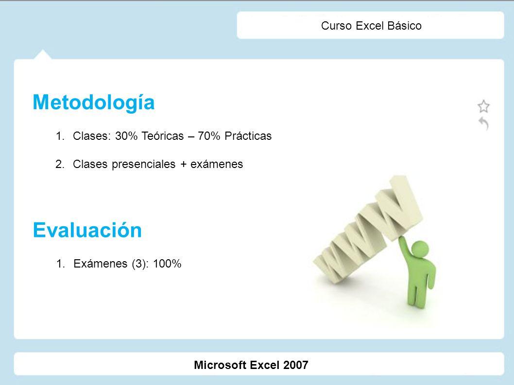 Metodología Evaluación Curso Excel Básico