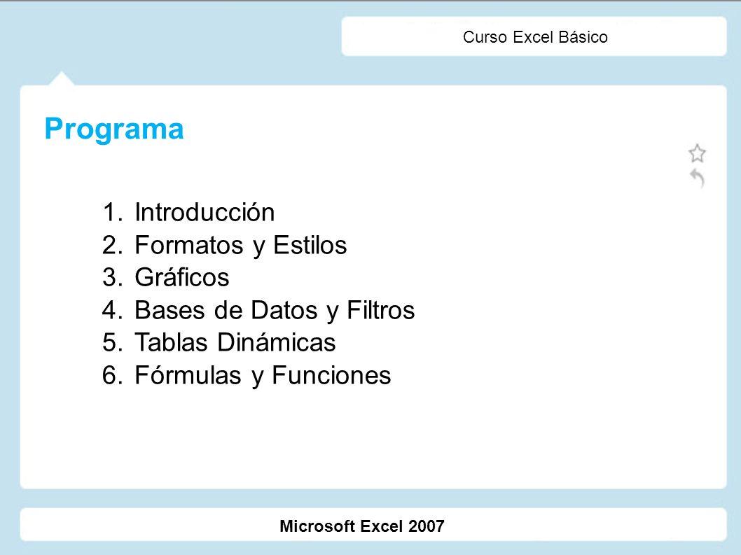 Programa Introducción Formatos y Estilos Gráficos
