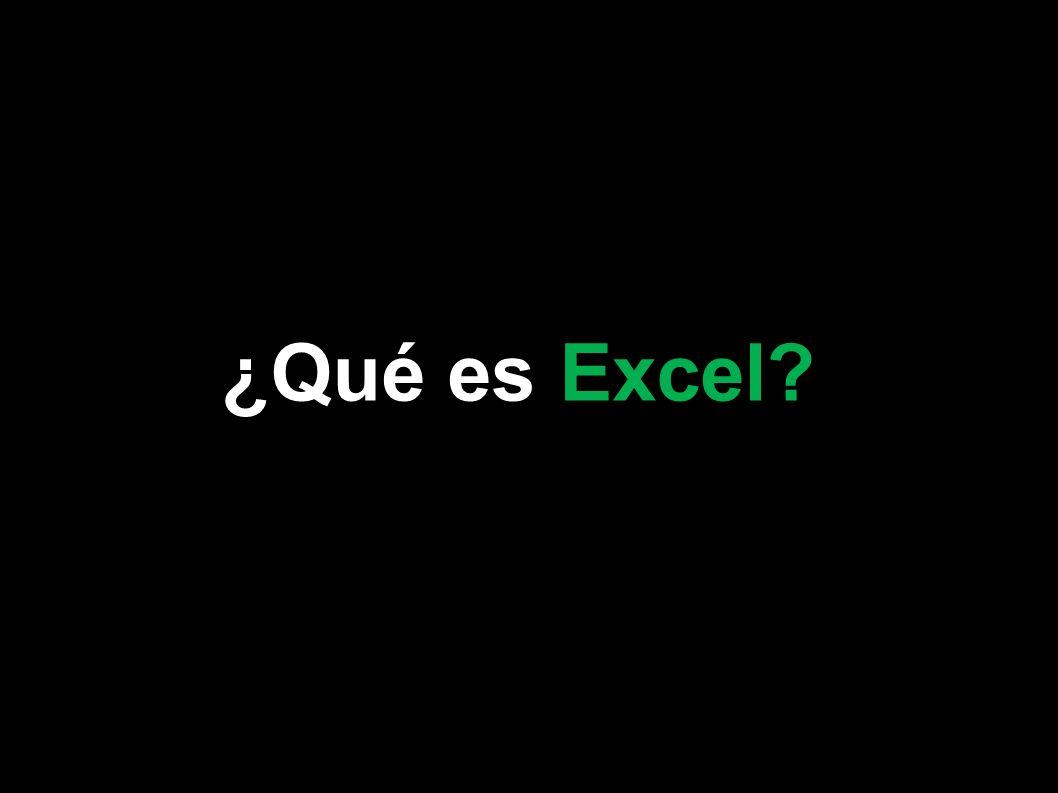 ¿Qué es Excel Microsoft Excel 2007