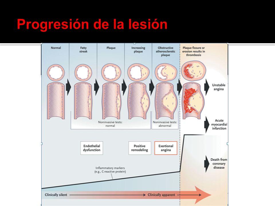 Progresión de la lesión