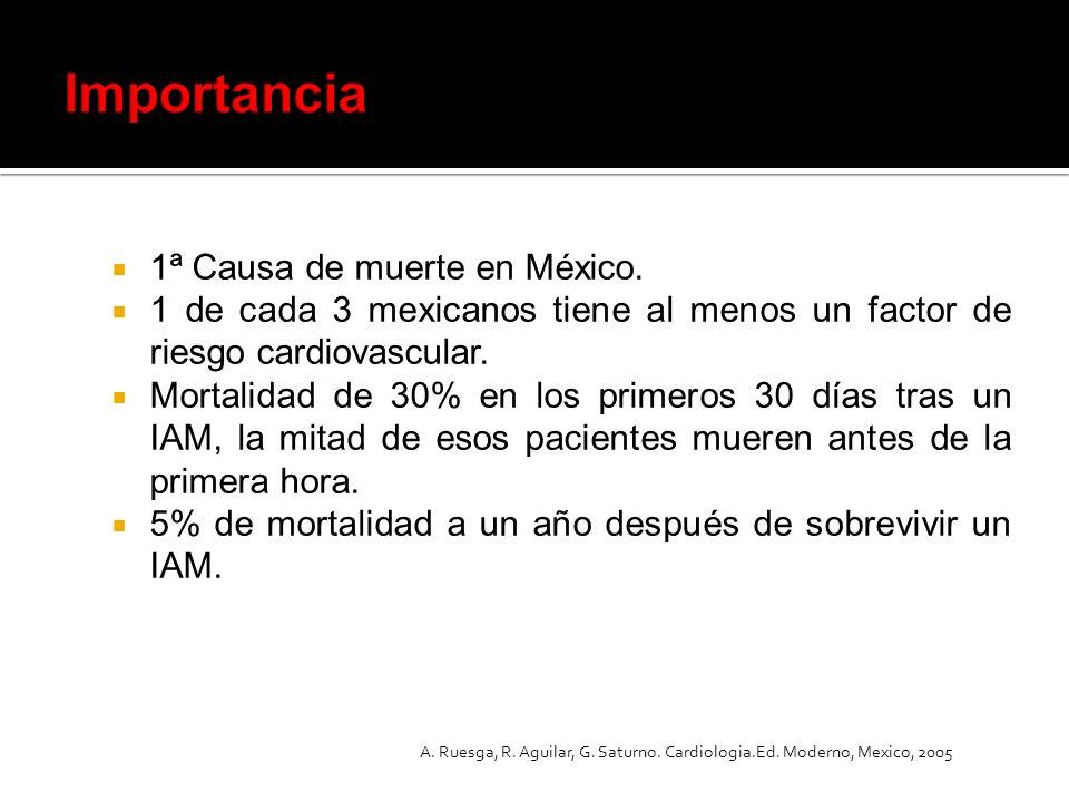 Importancia 1ª Causa de muerte en México.