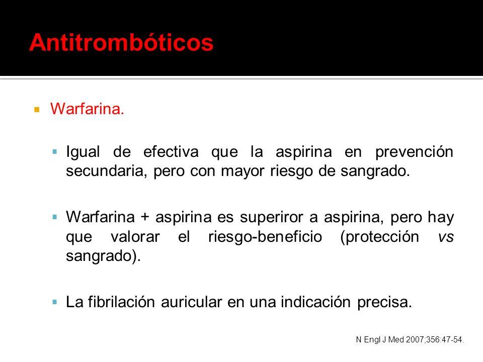 Antitrombóticos Warfarina.