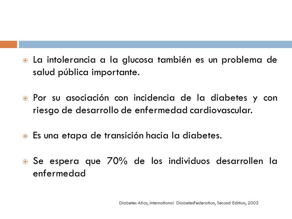 Es una etapa de transición hacia la diabetes.