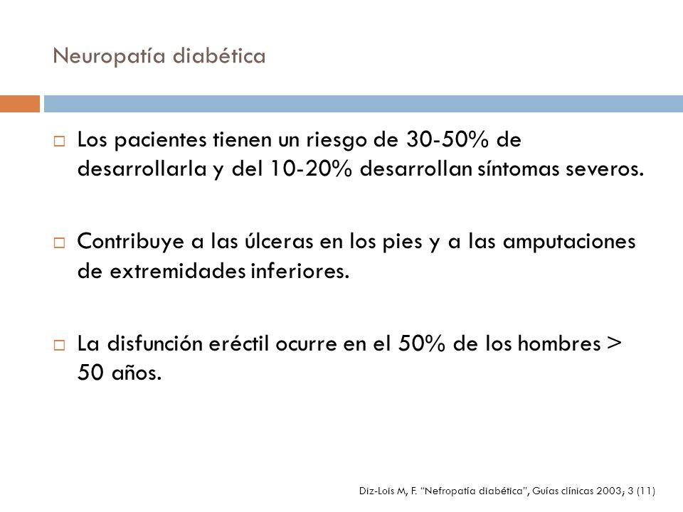 La disfunción eréctil ocurre en el 50% de los hombres > 50 años.