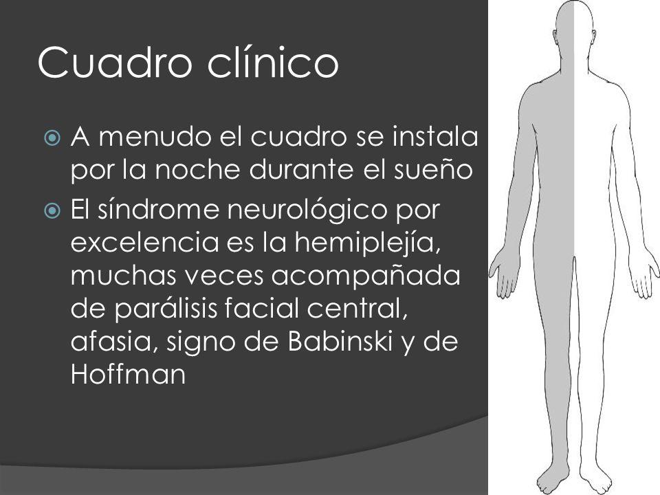 Cuadro clínico A menudo el cuadro se instala por la noche durante el sueño.