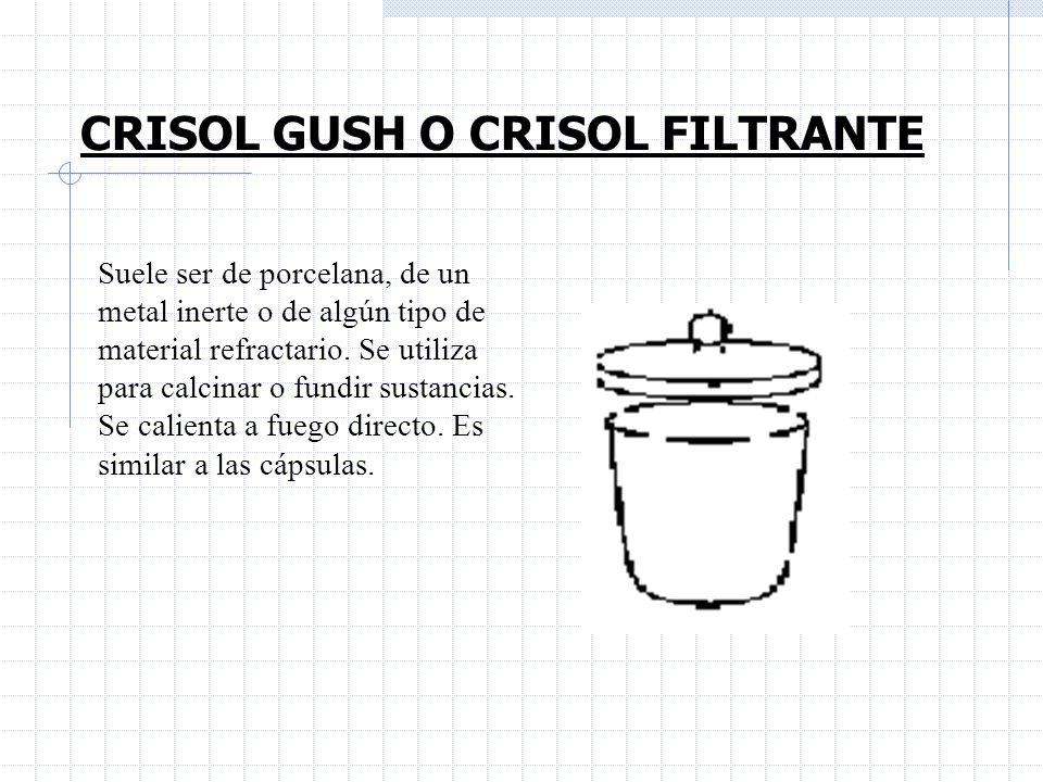 CRISOL GUSH O CRISOL FILTRANTE