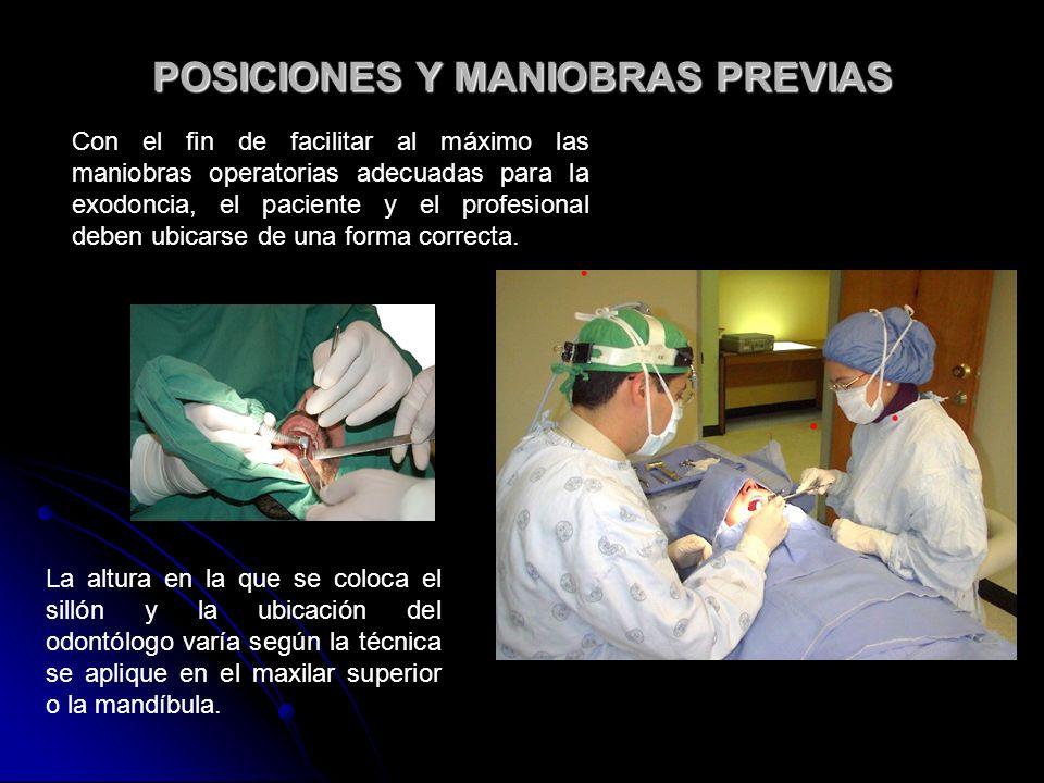 POSICIONES Y MANIOBRAS PREVIAS
