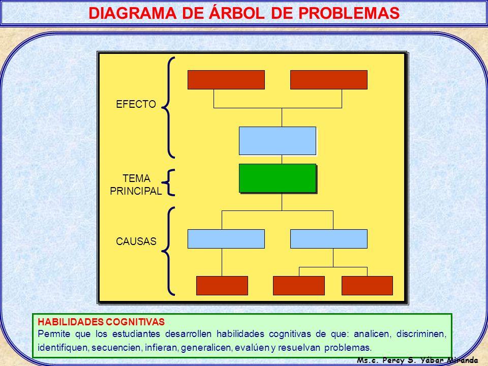 DIAGRAMA DE ÁRBOL DE PROBLEMAS Ms.c. Percy S. Yábar Miranda