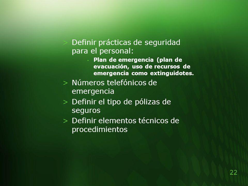 Definir prácticas de seguridad para el personal: