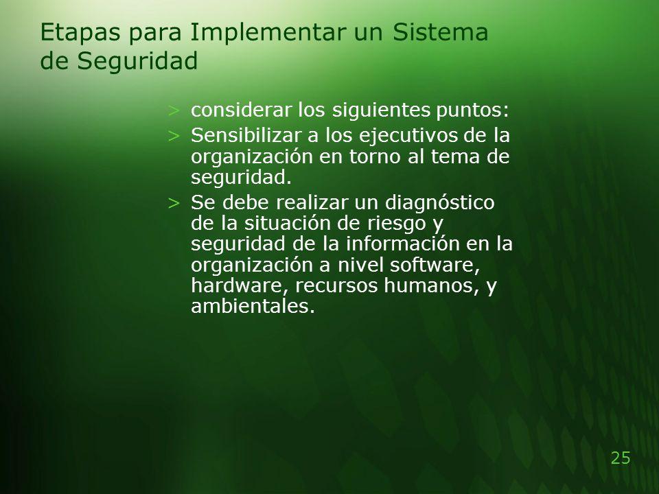 Etapas para Implementar un Sistema de Seguridad