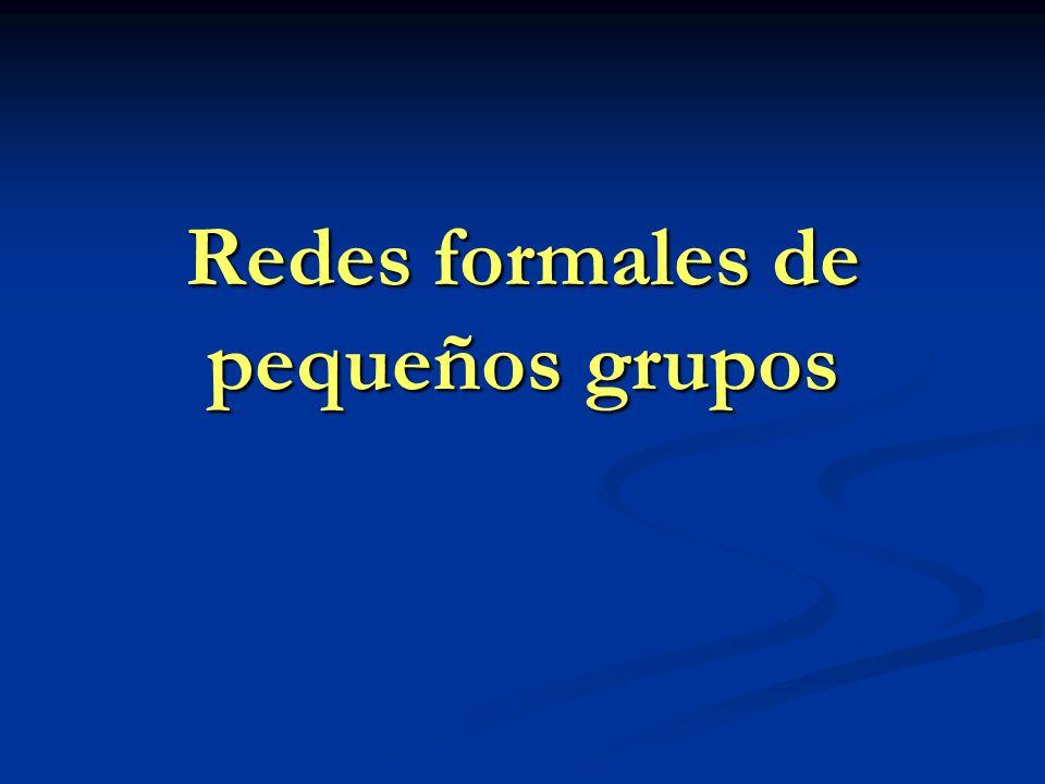 Redes formales de pequeños grupos