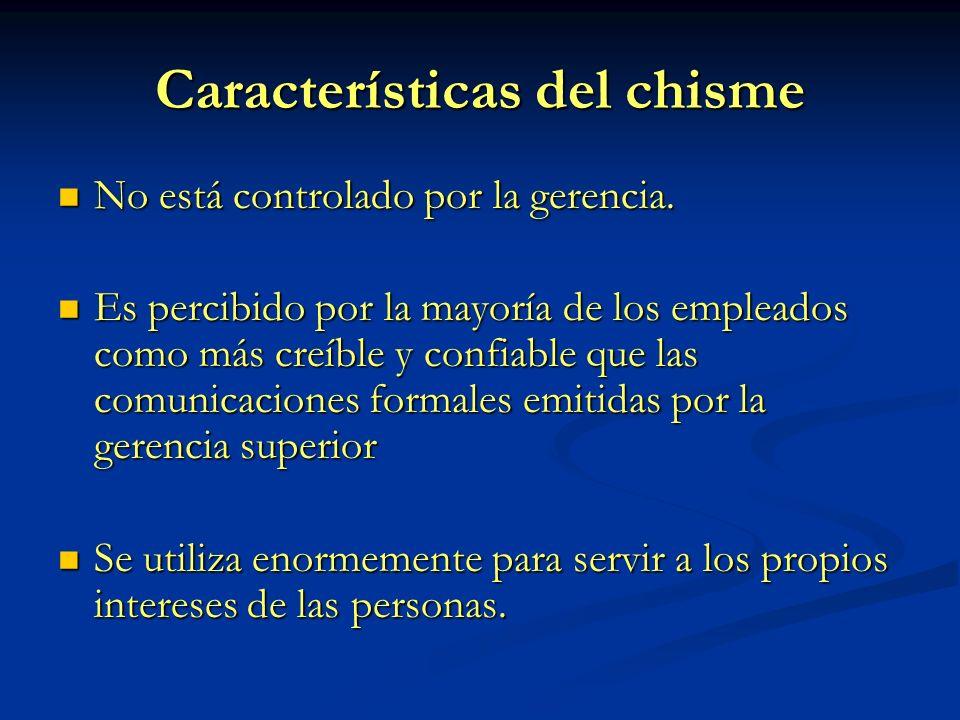 Características del chisme