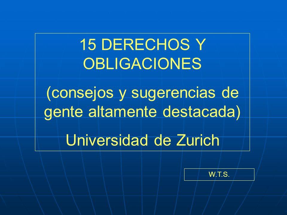 15 DERECHOS Y OBLIGACIONES