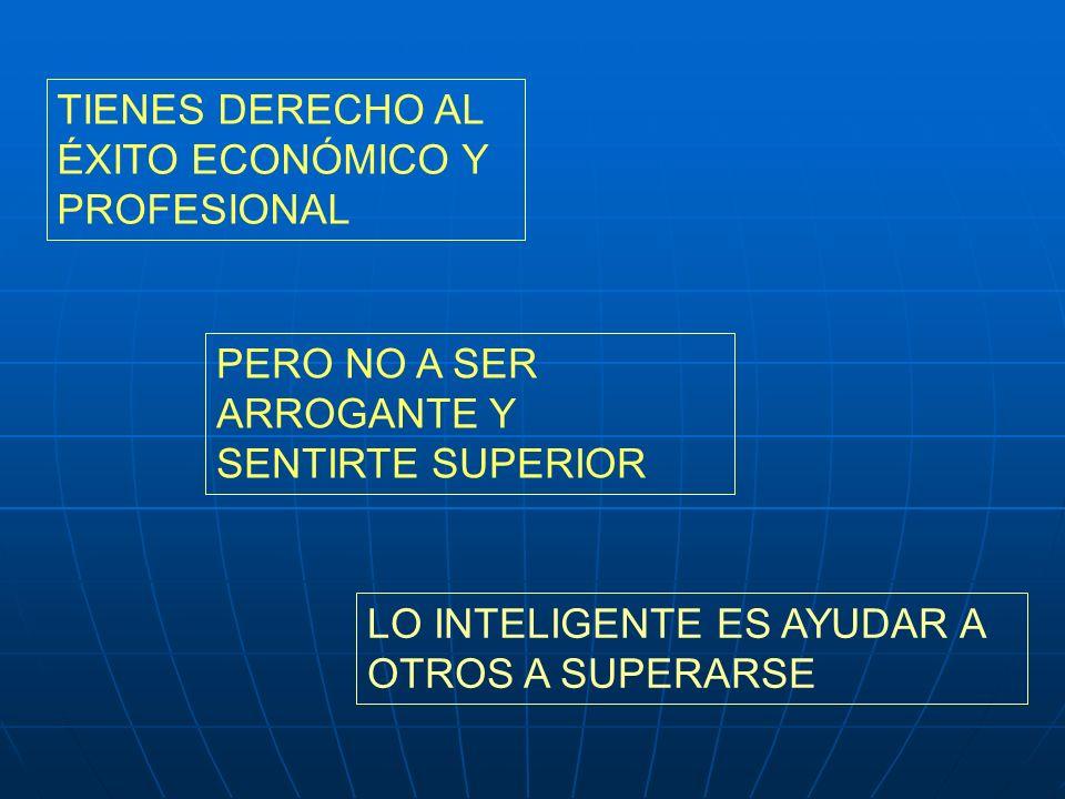 TIENES DERECHO AL ÉXITO ECONÓMICO Y PROFESIONAL