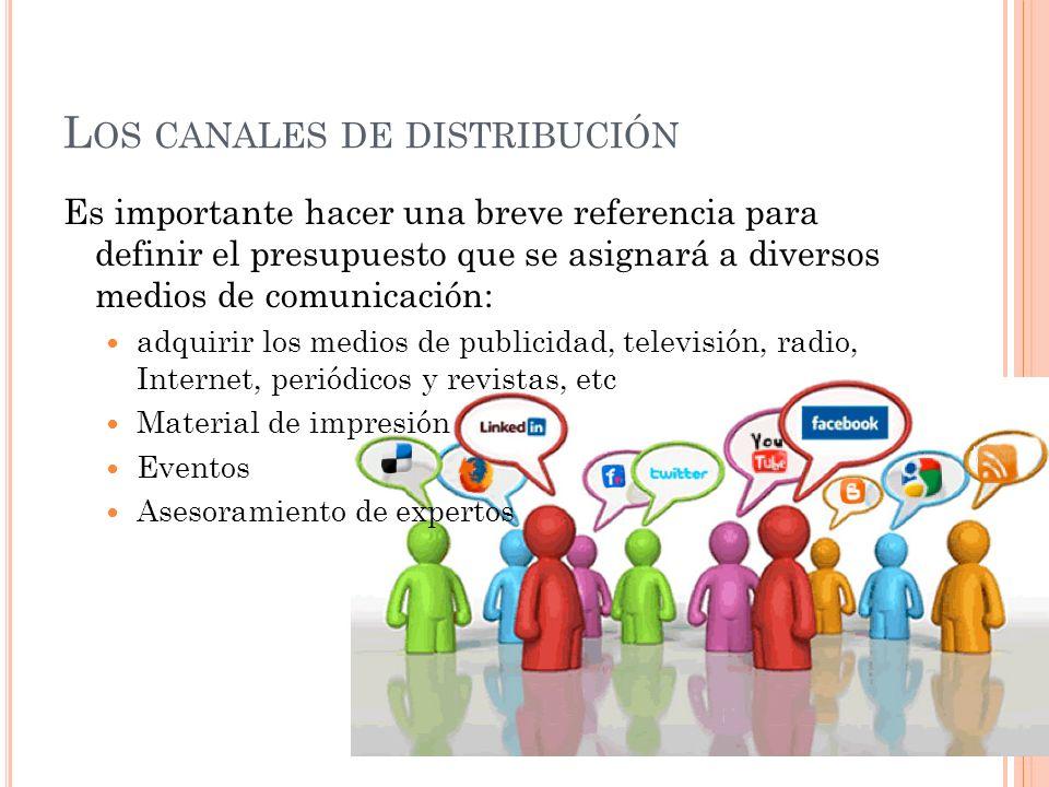 Los canales de distribución