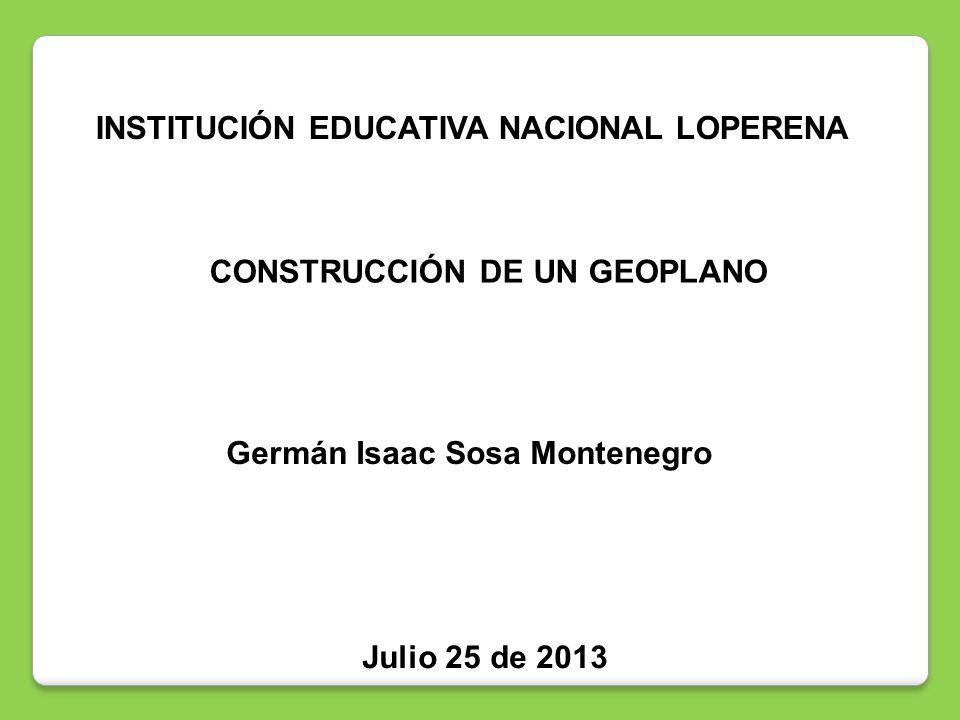 INSTITUCIÓN EDUCATIVA NACIONAL LOPERENA